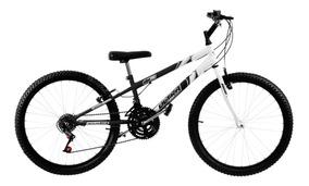Bicicleta Rebaixada Preta E Branca Aro 24 Pro Tork Ultra