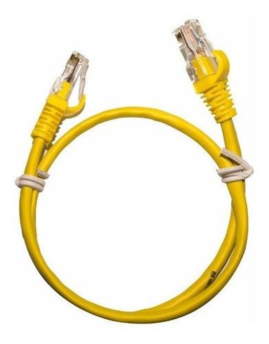 Imagem 1 de 4 de Kit 20 Cabos Patch Cord Cat5e Amarelo 30 Cm + Frete