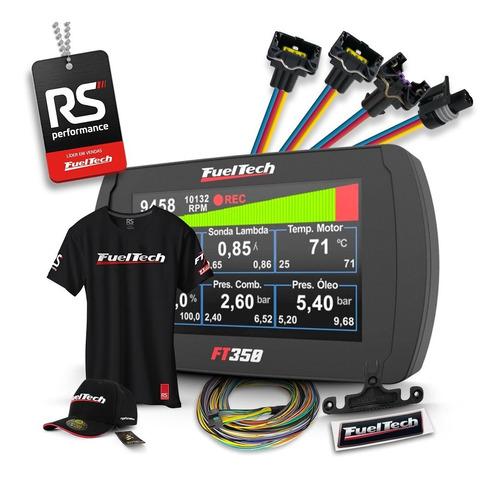 Fueltech Ft350 3m + Kit 9 Chicotes Gm 4 Bicos + Brindes