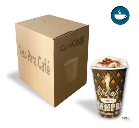 1,000 Vasos De Café Para Vending (8.25 Oz) - Diseño Único