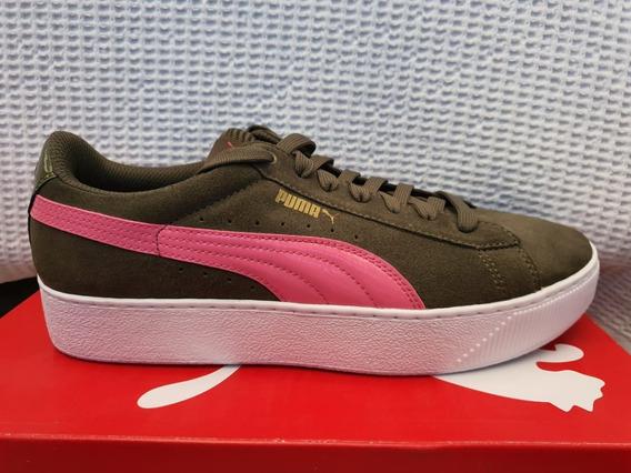 Tênis Feminino Original Puma Vikky Platform Verde 363287-07