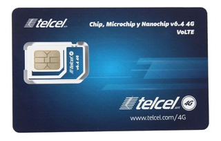 5pz- Chip Y Microchip Telcel 4g Lte Lada 444 San Luis Potosi