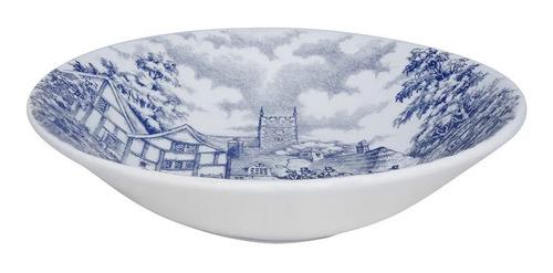 Imagen 1 de 6 de Set X6 Platos Hondos Cena Inglesa Tradicional Antiguo Azul