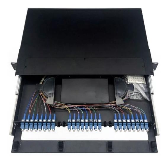 Odf Bandeja Glc Rack 24 Port Sc/apc Acopladores Casete Fibra