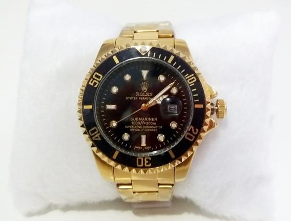 Relógio Submariner Gold Standard E Black 45mm.