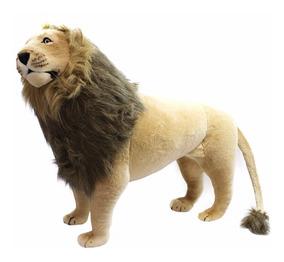 Leão Realista Em Pé 110cm - Pelúcia