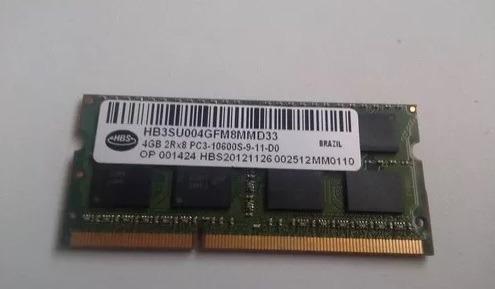 Memória P/ Notebook Ddr 3 / Pc3-10600s / 4gb Hbs