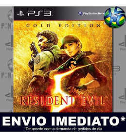 Jogo Ps3 Resident Evil 5 Gold Psn Play 3 Mídia Digital
