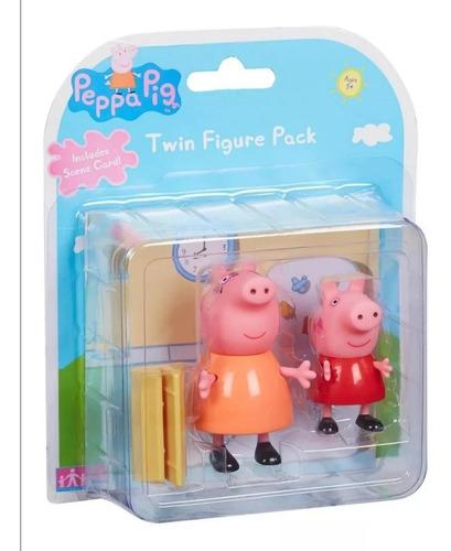Peppa Pig Blister Con 2 Fig Y Escena De La Casa