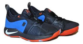 Kp3 Zapatos Caballeros Nike Paul George 2 Azul Naranja