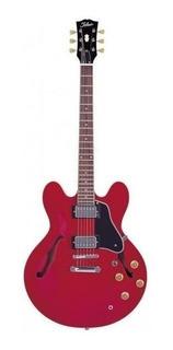 Tokai Es73 Sr Guitarra Electrica Tipo 335 Rojo Traslucido