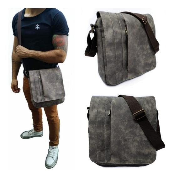 Bolsa Bag Masculina Lateral Tiracolo De Couro Sintetico