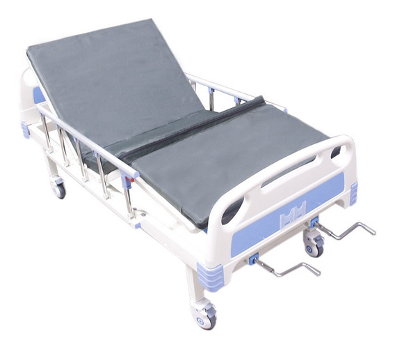 Cama Hospitalaria Manual Envío Gratis + Colchón Porta Suero