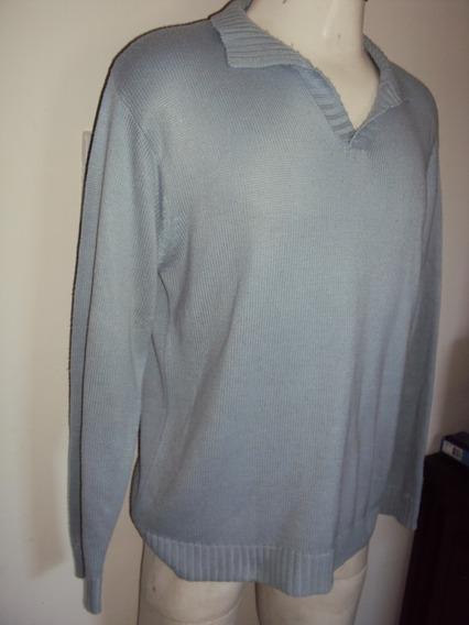 Blusa De Lã Azul Jinglers Tamanho M 44 - 46 = R