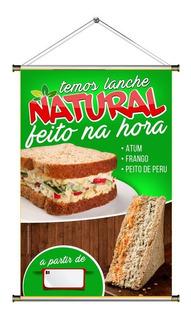 Banner De Lanche Sanduiche Natural Com Foto 60x90cm