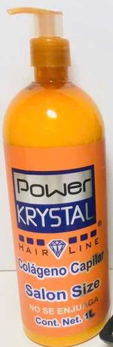 Imagen 1 de 2 de Colageno Capilar Power Krystal 1 Litro Que No Se Enjuaga