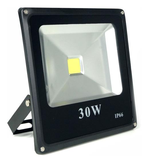 Refletor Led Holofote 30w 6000k Bivolt P/ Quadra Letreiro