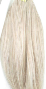 Cabelo Humano Loiro Platinado P/mega Hair 50 55cm 50gr
