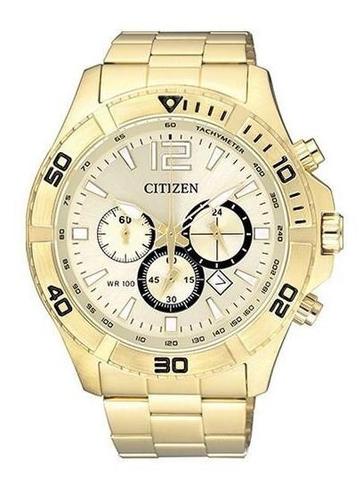 Relógio Citizen An8122-51p Masculino Dourado Cronografo