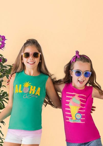 Camiseta Verde Rosa 1405330