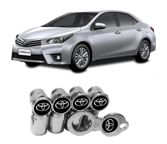 Bico Pneu Pino Roda Válvula Antifurto Cromado Toyota Corolla