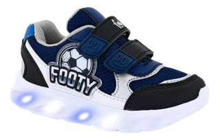 Zapatillas Footy Hi! Futbol Con Luces Y Tecla On/off Manias
