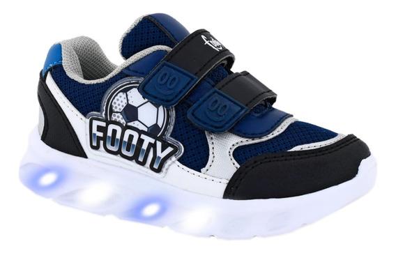 Zapatillas Footy Hi! Futbol Con Luces Y Tecla On/off Manias