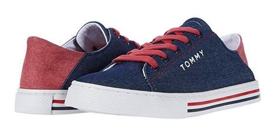 Tenis Tommy Hilfiger Dama Original Bandera Suela Logo Tommy