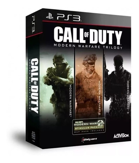 Call Of Duty Trilogia Do Modern Warfare - Ps3 - Mídia Física