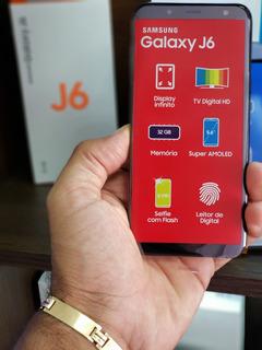 Smartphone Samsung Galaxy J6 Tv Preto Tela 5.6 Android 8.0,