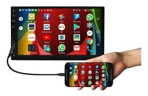 Som Mp5 Roadstar Espelha Ios Android Bluetooth Rádio + Câm