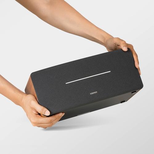 Bocina Bluetooth Edifier D12 Color Café Con Salida De Audio