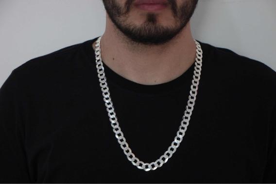 Cordão Corrente Prata Italiana 925 Grumet 70 Cm