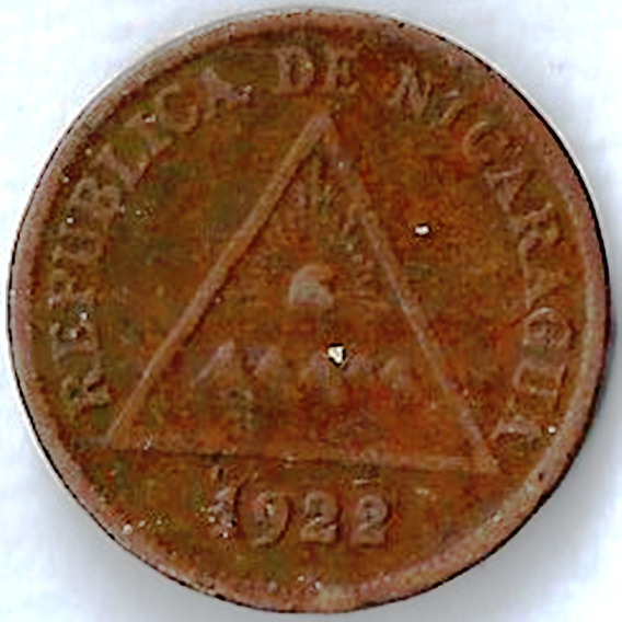 Nicaragua 1922 1 Centavo De Córdoba Moneda Antigua L120520