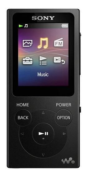 Reproductor De Música Digital Walkman Negro 4gb Nw-e393