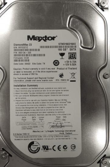 Hd Maxtor Sata 160 Gb 7200 P/desktop