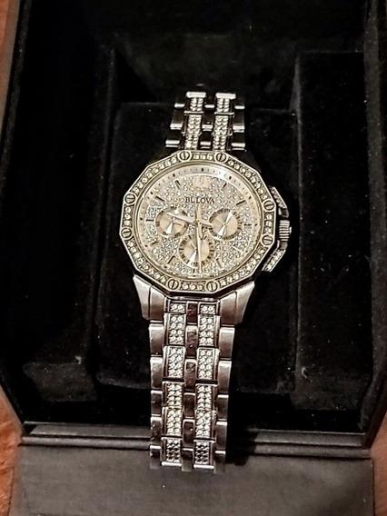 Bulova Cristales Swarovski Reloj 96c134