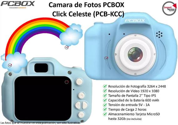 Cámara Y Filmadora De Fotos Pcbox Click Celeste (pcb-kcc)
