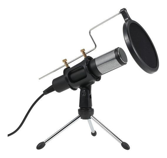 Microfone Condensador Profissional Plug And Play Usb Home