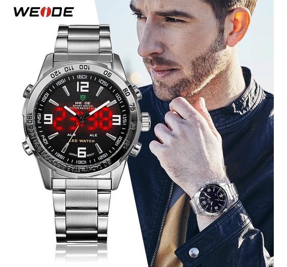 Relógio Weide Wh-1009 Digital E Analógico C/ Caixa