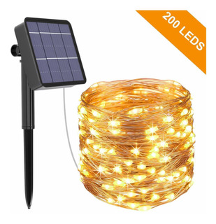 Tira Decorativa De 200 Luces Led Solares Glückluz 20 M
