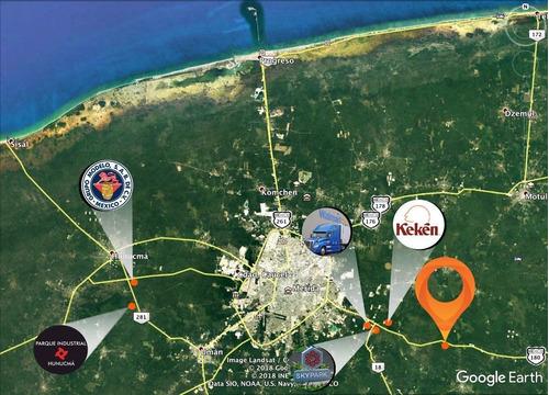 Imagen 1 de 8 de Excelente Terreno De 6.3 Ha Sobre Carretera Merida - Cancun