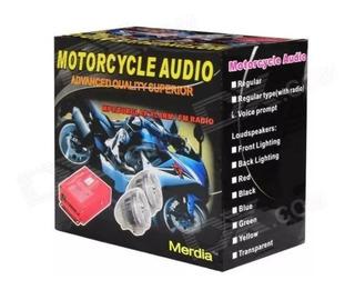 Alarma Radio Moto Fm Mp3 Con Usb Y Sd