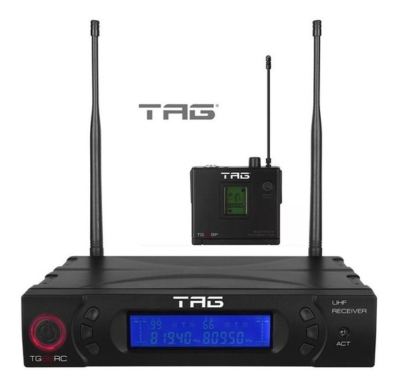 Transmissor Multicanal Tg-88rc + Bodypack Tg-88bp Tag Sound
