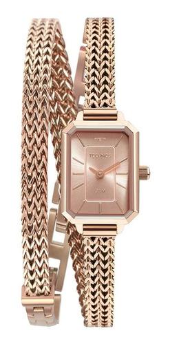 Relógio Technos Feminino Mini 5y20iw/1t Rose Quadrado