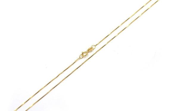 Corrente De Ouro 14k 45cm Feminina 1mm - Linda E Discreta