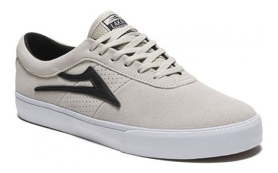 Tênis Lakai Sheffield Suede White Black