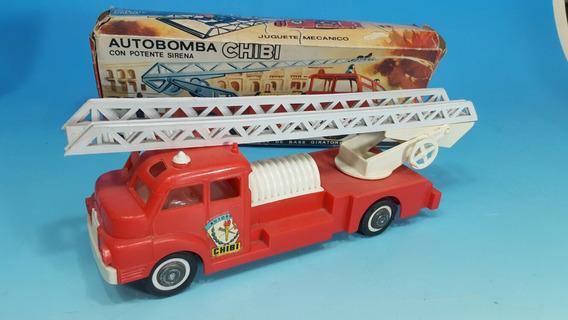 Antiguo Juguete -camion De Bomberos Chibi - Nuevo En Su Caja