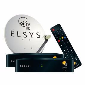 Oi Tv Livre Hd 2 Receptores Antena 60cm Cabo Lnb Duplo