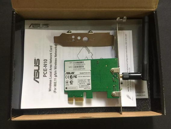 Placa Adaptador Rede Wifi Wireless Pce-n10 Asus 150mbps